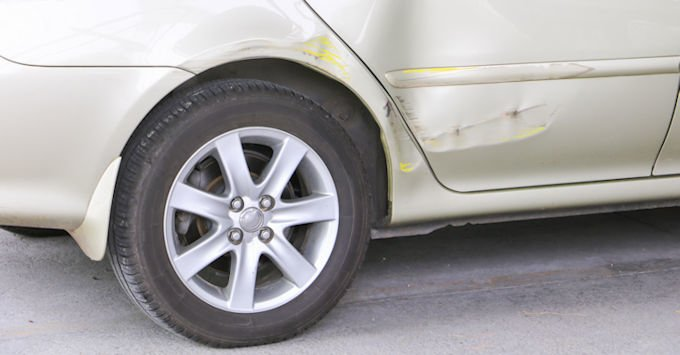 car with a small dent